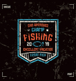 Fishing badge vector image vector image