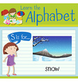 Flashcard letter S is for snow vector image vector image