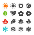 four season icon set vector image