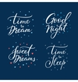 Good night lettering sign set vector image