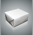 graphic photorealistic blank paper packaging box vector image