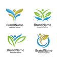 healthcare logo concept vector image vector image