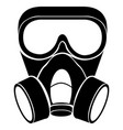 isolated gas mask vector image