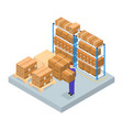logistic service business concept isometric view vector image