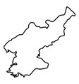 map of north korea icon black color flat style vector image
