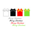 merry christmas set with gift boxes vector image vector image