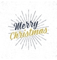 Merry Christmas typography label Retro christmas vector image vector image