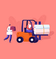 modern textile factory production transportation vector image vector image