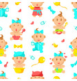 newborn babies seamless pattern cute bashower vector image vector image