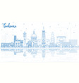 outline toulouse france city skyline with blue vector image vector image