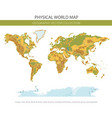 physical world map elements build your own vector image vector image
