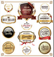 premium quality labels collection vector image vector image