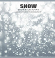 realistic falling snowflakes christmas snow vector image