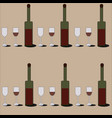 red wine pattern vector image vector image