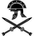 roman helmet and swords fifth variant vector image vector image