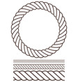 rope set contour version vector image