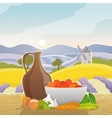 Rural Landscape With Still Life vector image vector image