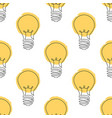 seamless pattern with light bulbs in one vector image