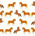 Seamless texture horses vector image vector image