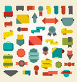 set of banners and labels on vector image vector image
