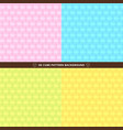 set of seamless 3d cube pattern colorful design vector image vector image