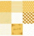 set yellow cute seamless patterns vector image vector image