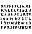 silhouettes of tango players vector image vector image