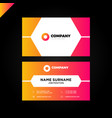 simple and minimal corporate business card vector image vector image