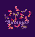 summer night butterfly vector image vector image