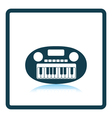 Synthesizer toy icon vector image