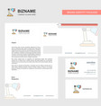 table lamp business letterhead envelope and vector image vector image