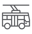 trolleybus line icon transportation and public vector image vector image