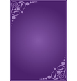 violet decorative card with gradient vector image vector image