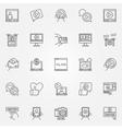 Vlog icons set vector image vector image