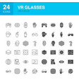 vr glasses line web glyph icons vector image