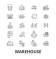 warehouse building logistics delivery storage vector image vector image