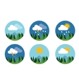 weather icon set flat forecast sky cloud vector image vector image