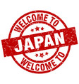 welcome to japan red stamp vector image vector image