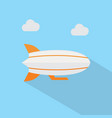 zeppelin icon set of great flat icons with style vector image