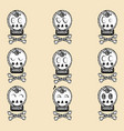 helloween skull with ornament day of the dead vector image