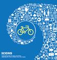 bike sign symbol Nice set of beautiful icons vector image