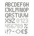 Cross stitch english alphabet vector image