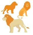Cartoon lions set vector image