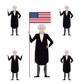Set of Washington flat icons vector image