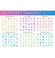 180 trendy perfect gradient icons set web vector image vector image