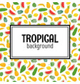 abstract background with tropical leaves and vector image vector image