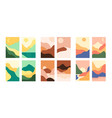 abstract minimalist landscape vector image
