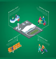 airport and services on green vector image