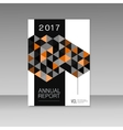 Annual report design with abstract triangles vector image vector image