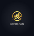 arrow graph progress business logo vector image